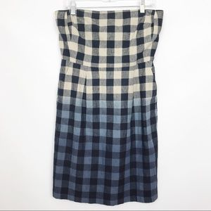 GAP | Buffalo Check Ombré Linen Pocket Dress 12